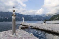 Montenegro. Islote nuestra señora de las rocas Foto de archivo libre de regalías