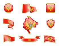 Montenegro kennzeichnet Sammlung Vektor Abbildung