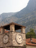 Montenegro. Kotor. Montenegro. Adriatic sea. Kotor. Clock tower Royalty Free Stock Photos