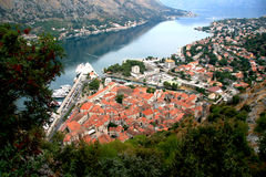Montenegro. Kotor. Montenegro. Adriatic sea. The Bay of Kotor (Boka Kotorska). The southern-most fjord in Europe Stock Image