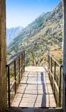 Montenegro, Kotor, antyczny forteca Zdjęcia Stock