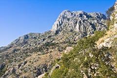 Montenegro, Kotor, antyczny forteca Zdjęcie Royalty Free