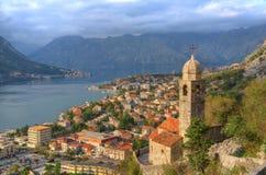 Montenegro, Kotor-baai, Kotor - oude stad, Kerk van Onze Dame van remedie royalty-vrije stock afbeeldingen