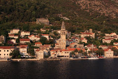 Montenegro Kotor Bay, Perast village Royalty Free Stock Images