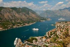 Montenegro. Kotor-Bucht Stockbild