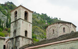 Montenegro Kotor church, one of old city buildings. Church Stock Image