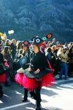 Montenegro, Kotor - 03/13/2016: Dziewczyny reprezentuje retro muzykę Fotografia Stock
