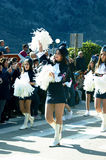 Montenegro, Kotor  - 03/13/2016: Majorettes from the club Alisa. Royalty Free Stock Photography