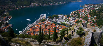 Montenegro. Kotor zatoka Zdjęcia Stock