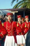 Montenegro, Kumbor - 02/06/2016: Majorettes city of Herceg Novi. Royalty Free Stock Image