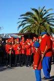Montenegro Kumbor - 02/06/2016: Stadsorkester och pilar Fotografering för Bildbyråer