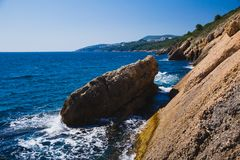 Montenegro kuster av Adriatiskt havet royaltyfria foton