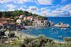 Montenegro kustlijn royalty-vrije stock afbeelding