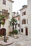 montenegro La città di Cattaro Vie di vecchio Kotor fotografia stock