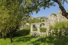 montenegro La città di vecchio Antivari colpita dal terremoto Fotografia Stock Libera da Diritti