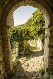 montenegro La città di vecchio Antivari colpita dal terremoto Fotografie Stock