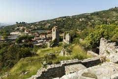 montenegro La ville de la vieille barre affectée par le tremblement de terre Images stock