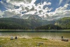 montenegro Lago nero Sosta nazionale di Durmitor Fotografie Stock Libere da Diritti
