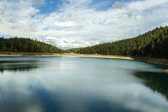 montenegro Lago nero Sosta nazionale di Durmitor Fotografia Stock Libera da Diritti
