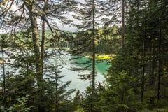 montenegro Lago preto Parque nacional de Durmitor Foto de Stock