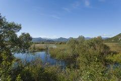 montenegro Lago Skadar È uno di laghi più bei in Europa Fotografia Stock