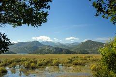 montenegro Lago Skadar È uno di laghi più bei in Europa Fotografie Stock Libere da Diritti