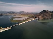 montenegro Lago Skadar A vista da parte superior imagens de stock royalty free