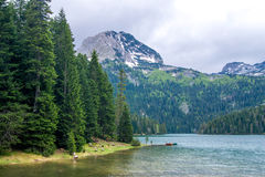 Montenegro landscape, black lake Stock Photo
