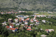 Montenegro. Looking to the small country. In the valley Royalty Free Stock Photography
