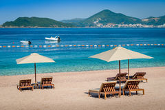 Montenegro luxury sand beach Stock Photography
