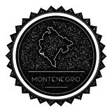 Montenegro Map Label with Retro Vintage Styled. Montenegro Map Label with Retro Vintage Styled Design. Hipster Grungy Montenegro Map Insignia Vector Stock Photo