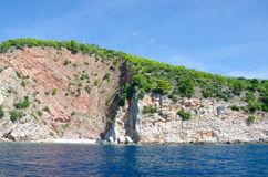 Montenegro marine view. Montenegro marine species. Beaches and landscape Royalty Free Stock Image