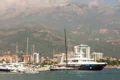 Montenegro Marine yachts at the marina in Budva Royalty Free Stock Photos