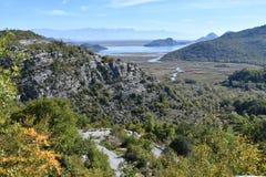 Montenegro Meer Skadar Monte Negro Stock Afbeeldingen