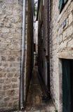 Montenegro Miasteczko Kotor stare kotor ulicy Wąska ulica w Europa ` Pozwalał ja Przechodzić ` zdjęcie royalty free
