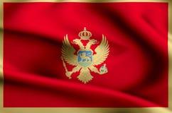 Montenegro flag illustration vector illustration