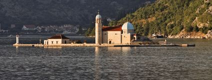 Montenegro: Monastery in the Bay of Kotor Royalty Free Stock Image