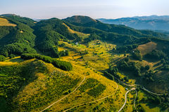 Montenegro mountain crossroads - aerial Stock Photography