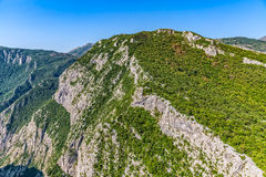 Montenegro mountains helicopter aerial view Stock Photos