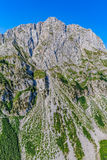 Montenegro mountains helicopter aerial view Stock Images