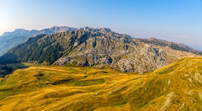 Montenegro mountains hiking trail - aerial Stock Photography