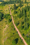 Montenegro mountains hiking trail - aerial Royalty Free Stock Image