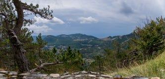 Montenegro, mountains, panorama. Beautiful view of the mountain plateau, valley, early autumn Royalty Free Stock Photos