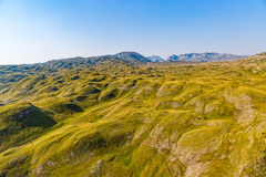 Montenegro mountains at sunrise - aerial Royalty Free Stock Photo
