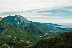 Montenegro mountains, view of rocky green hills. Balkan Stock Photos
