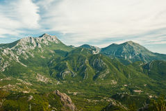 Montenegro mountains, view of rocky green hills. Balkan Royalty Free Stock Images