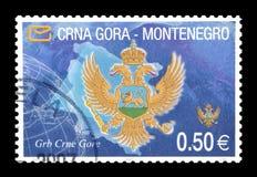 Montenegro na znaczkach pocztowych fotografia royalty free