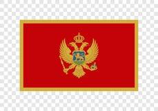 Montenegro - nationsflagga vektor illustrationer