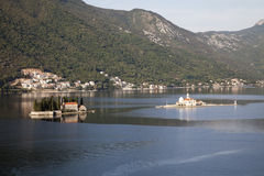 Montenegro. Nice view from the Adriatic sea in Perast Stock Images