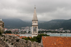 Montenegro, Old Town of Budva. View of the Old Town of Budva in Montenegro Royalty Free Stock Images